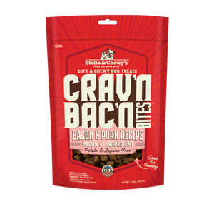 Stella & Chewy's Crav'n Bac'n Bites Bacon & Pork Recipes Treats for Dogs (8.25oz)
