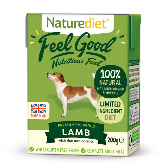[Buy3free1] Naturediet Feel Good Nutritious Wet Food for Dogs (Lamb) 2 sizes