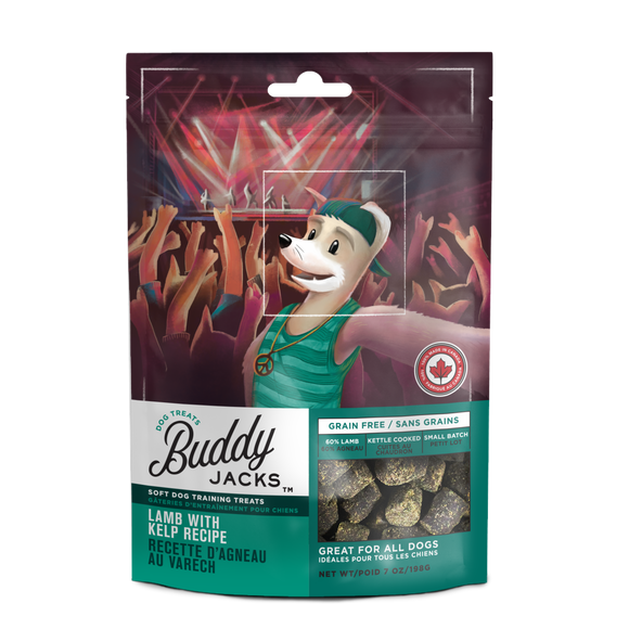 Canadian Jerky Buddy Jack's Soft Dog Training Treats - Lamb with Kelp Recipe (7oz / 198g)