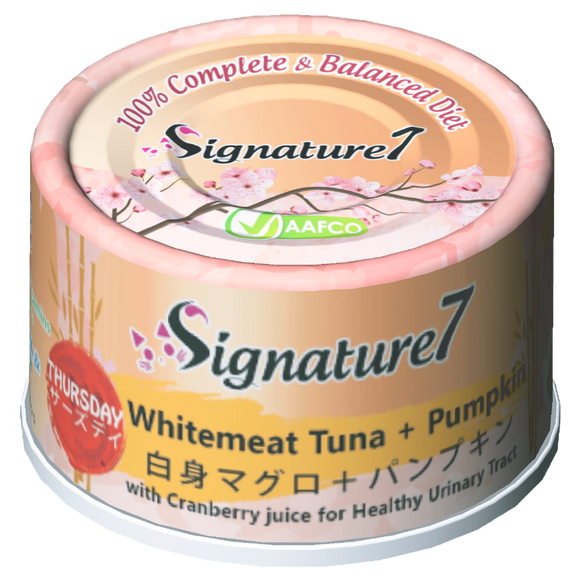 Signature 7 THURSDAY Whitemeat Tuna + Pumpkin Wet Food for Cats (70g)