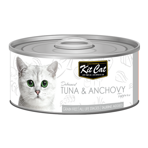 [1carton] Kit Cat Topper Series Canned Food (Tuna & Anchovy) 80g x 24cans