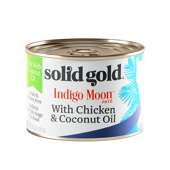 [SG-00047] Solid Gold Indigo Moon with Chicken & Coconut Oil (6oz)