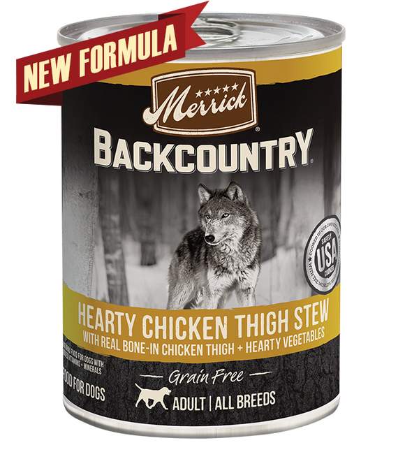 [MR-37005] Merrick Backcountry Hearty Chicken Thigh Stew for Dogs (360g)