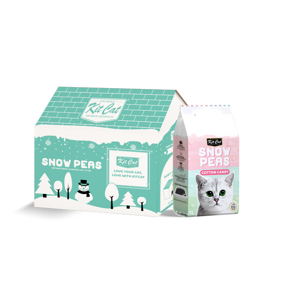 [2 for $15] Kit Cat Snow Peas Antibacterial Clumping Cat Litter (Cotton Candy) 7L