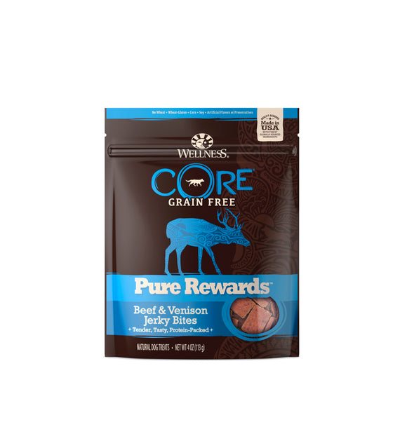 [WN-PRBV] Wellness CORE Pure Rewards (Beef & Venison Jerky Bites) 4oz