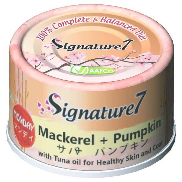 Signature 7 MONDAY Mackerel + Pumpkin Wet Food for Cats (70g)