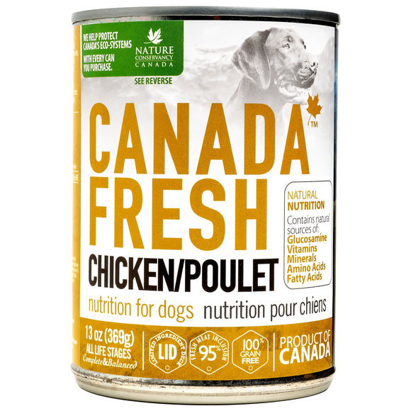 Canada Fresh Chicken Wet Canned Food for Dogs (13oz/369g)