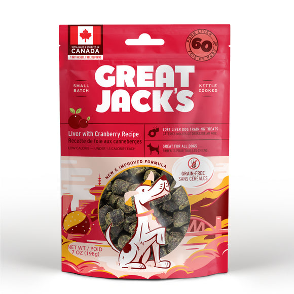 Canadian Jerky Great Jack's Liver with Cranberry Recipe (7oz / 198g)