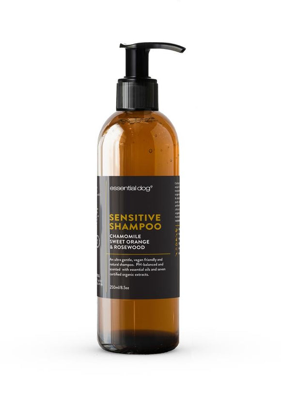 Essential Dog Sensitive Shampoo with Chamomile, Sweet Orange & Rosewood for Dogs (2 sizes)