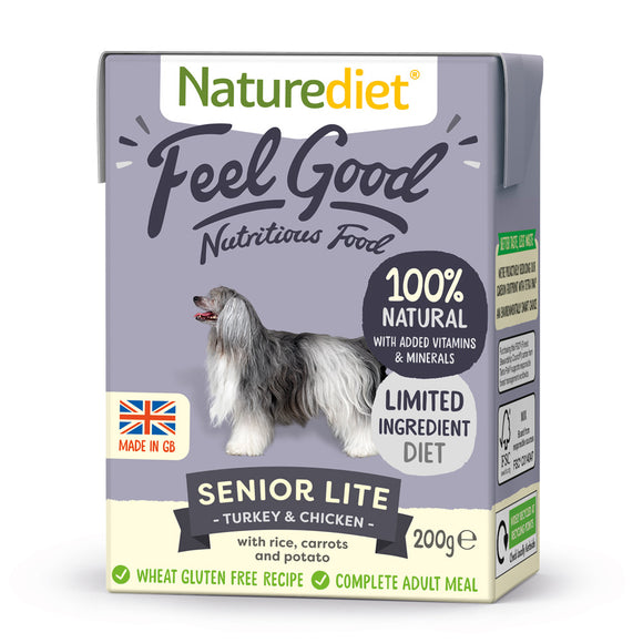[Buy3free1] Naturediet Feel Good Nutritious Wet Food for Dogs (Senior Lite) 2 sizes