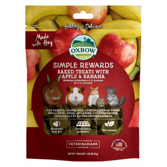 [O425] Oxbow Baked Treats with Apple & Banana (85g)