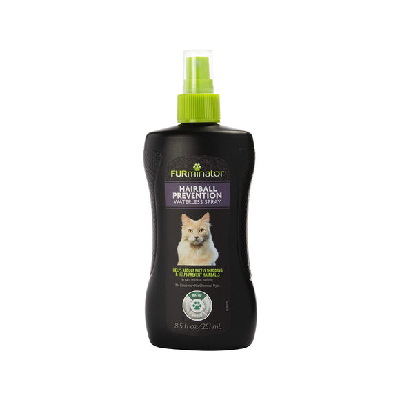 FURminator Hairball Prevention Waterless Spray for Cats (8.5oz)