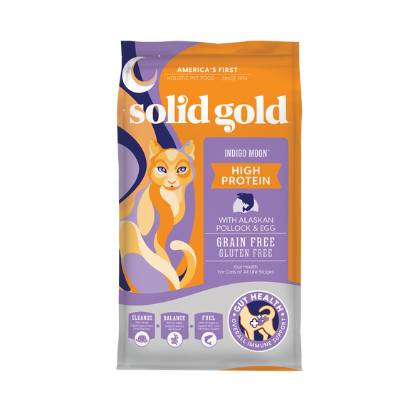 Solid Gold Indigo Moon Pollock & Egg Recipes Dry Food for Cats (3 sizes)
