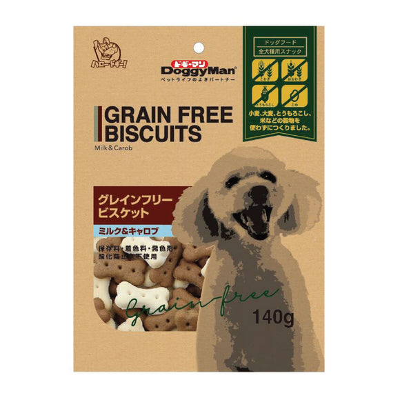 [DM-82346] DoggyMan Milk & Carob Grain-free Biscuits for Dogs (140g)