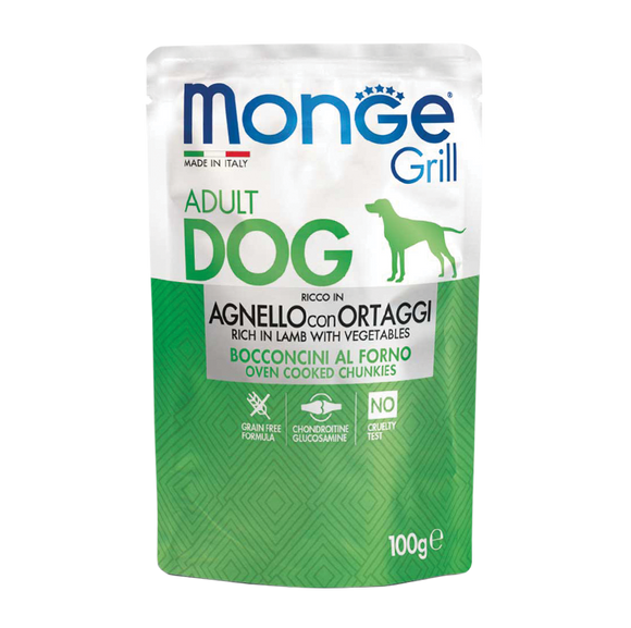 Monge Grill Pouches (Lamb & Vegetable) 100g