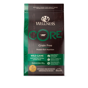 Wellness Core Grain Free Wild Game (Duck, Lamb Meal Wild Boar & Rabbit) (3 sizes)