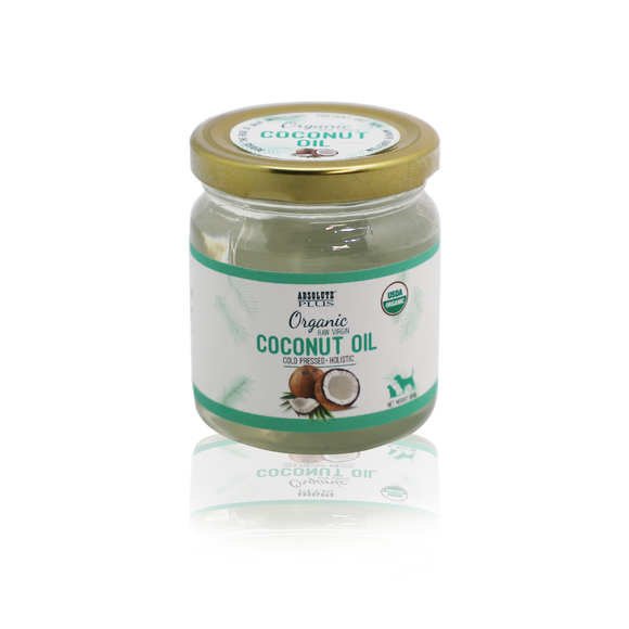 Absolute Plus Organic Raw Virgin Coconut Oil for Dogs & Cats (2 sizes)