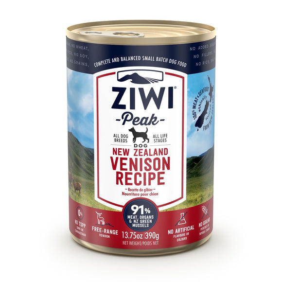ZIWI® Peak Wet Canned Food Venison Recipe for Dogs (390g)
