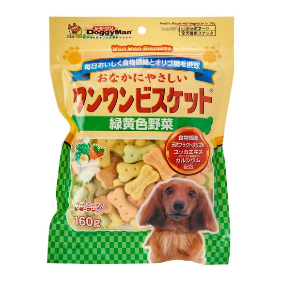 [DM-81992] DoggyMan Bowwow Green & Yellow Vegetable Biscuit for Dogs (160g)