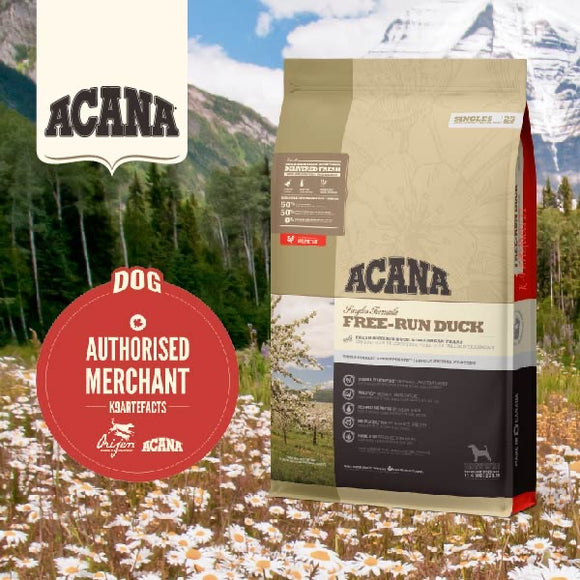 Acana Single Free Run Duck Dry Food for Dogs (4 sizes)
