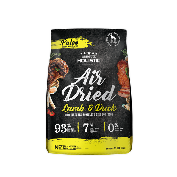 Absolute Holistic Air Dried Dry Food (Lamb & Duck) for Dogs (1kg)