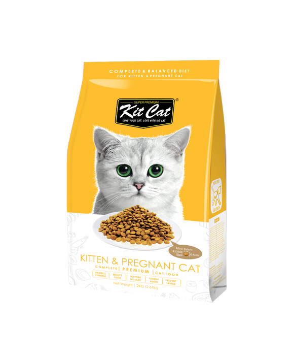 Kit Cat Premium Dry Food (Kitten & Pregnant Cat) 1.2kg
