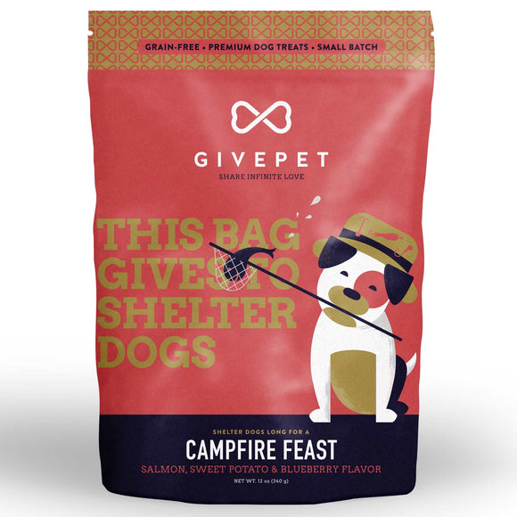 GIVEPET Campfire Feast Grain Free Small Batch Cookie Treats (340g)