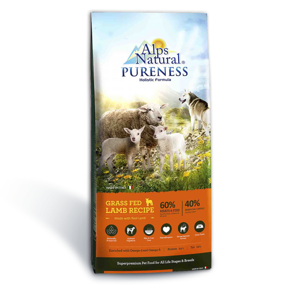 Alps Natural Grass Fed Lamb Dry Food for Dogs (2 sizes)