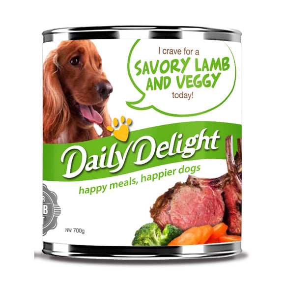 Daily Delight Savory Lamb & Veggy Canned Food (2 sizes)