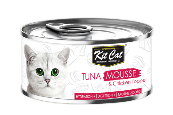 [1carton] Kit Cat Mousse Series Canned Food (Tuna Mousse & Chicken) 80g x 24cans
