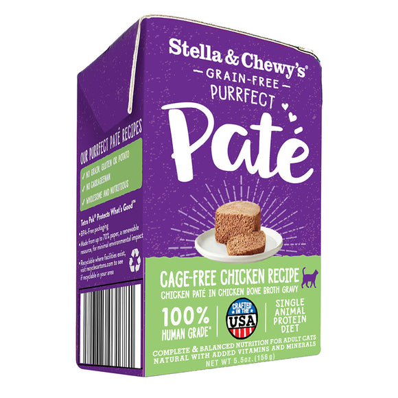 Stella & Chewy's Purrfect Paté Cage-Free Chicken Recipe Wet Food (5.5oz)