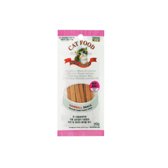 [BW1067] Bow Wow Cat Beef Slice Jerky Treats for Cats (20g)