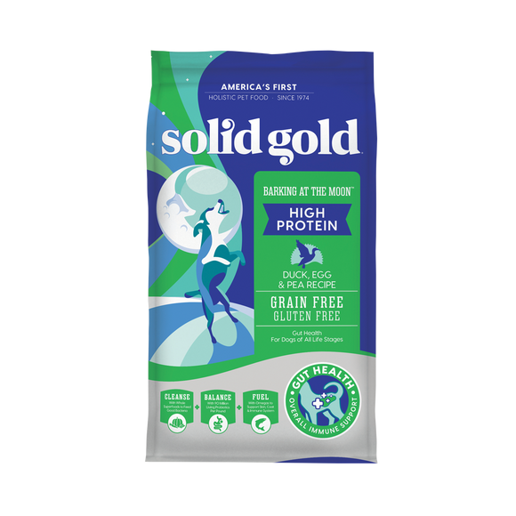 Solid Gold Barking at the Moon Duck, Egg & Peas Recipes Dry Food for Dogs (2 sizes)