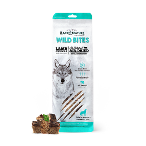 Back2Nature All Natural Air-Dried Wild Bites Treats for Dog (Lamb Chunks)