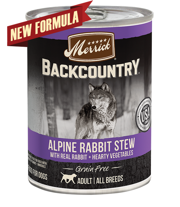 [MR-37022] Merrick Backcountry Alpine Rabbit Stew for Dogs (360g)