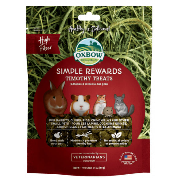 [O413] Oxbow Simple Reward Timothy Treats (40g)