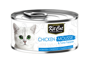 [1carton] Kit Cat Mousse Series Canned Food (Chicken Mousse & Tuna) 80g x 24cans