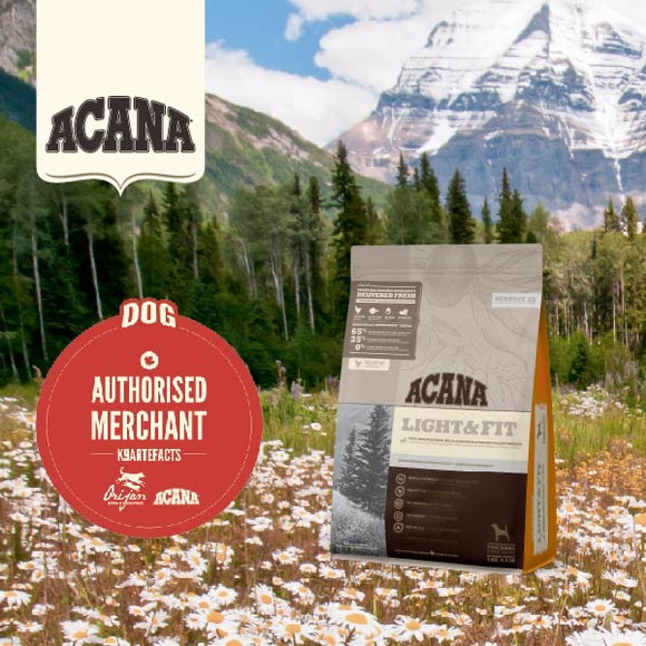 Acana Heritage Light & Fit Dry Food for Dogs (2 sizes)