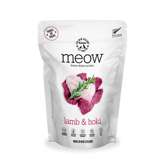 NZ Natural MEOW Freeze Dried Raw Food for Cats (Lamb & Hoki) 2 sizes