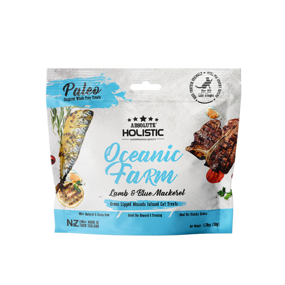 Absolute Holistic Air Dried Treats for Cats (Oceanic Farm) 50g