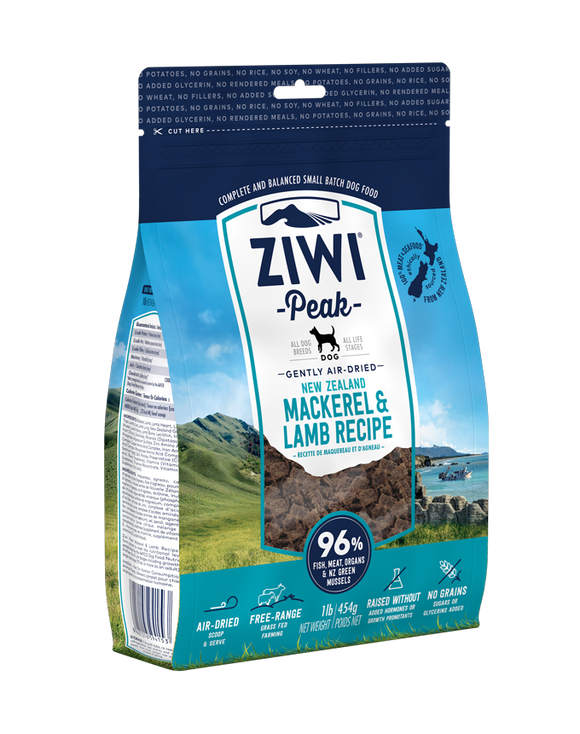 ZIWI® Peak Air-Dried Mackerel & Lamb Recipe for Dogs (3 sizes)
