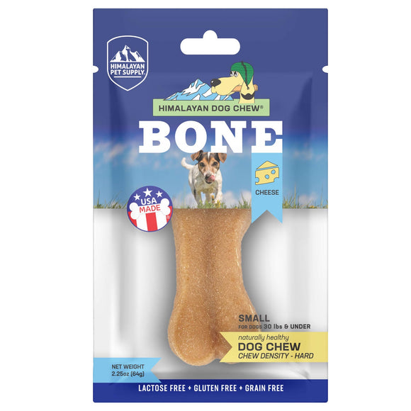 Himalayan Pet Supply Bone Cheese Dog Chew Hard Density Treats (Small) 64g
