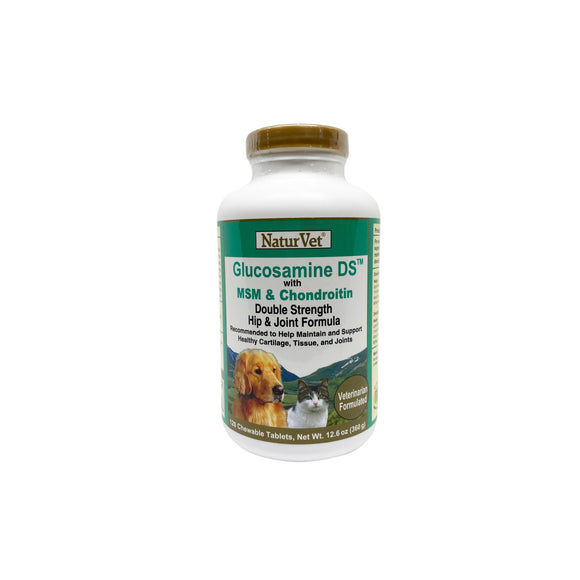 NaturVet Glucosamine Double Strength with MSM & Chondroitin Chewable Tablets (2 sizes)