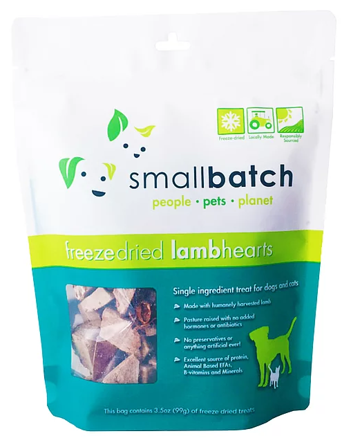 [SBT-3] Smallbatch Freeze-Dried LambHearts Treats for Dogs (3.5oz)