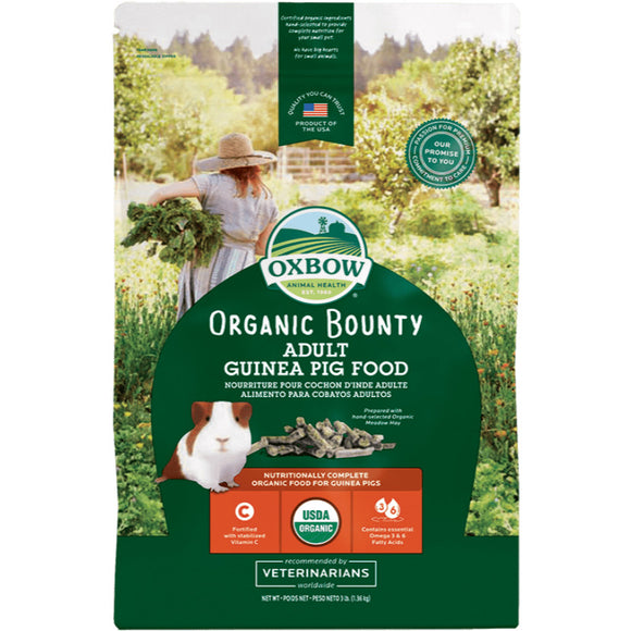 [O602] Oxbow Organic Bounty Adult Guinea Pig Food (3lb)