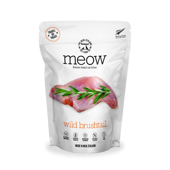 NZ Natural MEOW Freeze Dried Raw Food for Cats (Wild Brushtail) 2 sizes