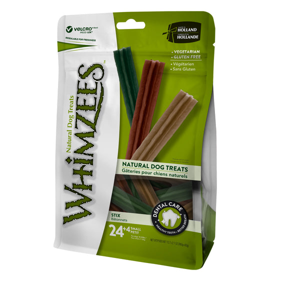 [WHZ316] [Buy2Free1] Whimzees Value Bag Stix Dental Treats for Dogs (Small/24pcs)