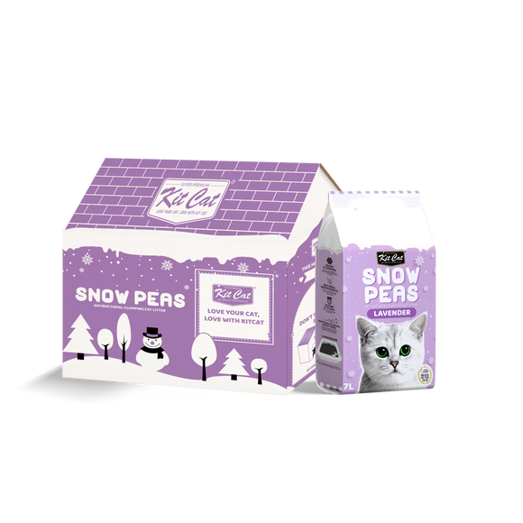 [2 for $15] Kit Cat Snow Peas Antibacterial Clumping Cat Litter (Lavender) 7L
