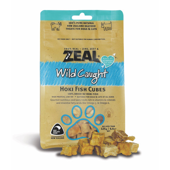 [Buy2Free1] Zeal Wild Caught Hoki Fish Cubes Treats for Dogs & Cats (125g)