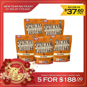 [🐮 Feast] [5 for $188] Primal Freeze-Dried Raw Beef Formula (Canine) 14oz